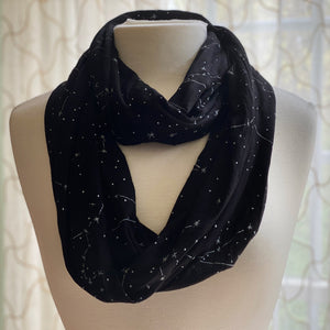 Constellations Glow-In-The-Dark Infinity Scarf