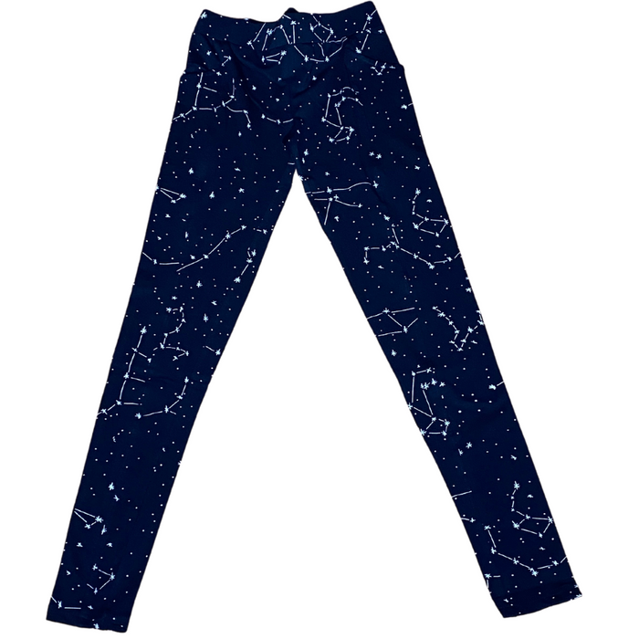 Constellation Glow-In-The-Dark Print Pocket Leggings
