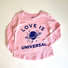 Load image into Gallery viewer, Love Is Universal Saturn Long Sleeve Kids Shirt