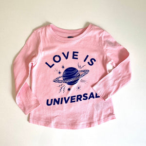 Love Is Universal Saturn Long Sleeve Kids Shirt