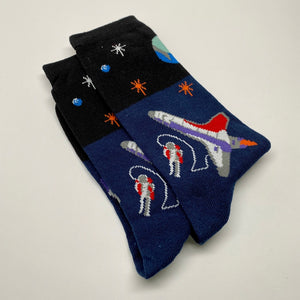 Space Print Socks
