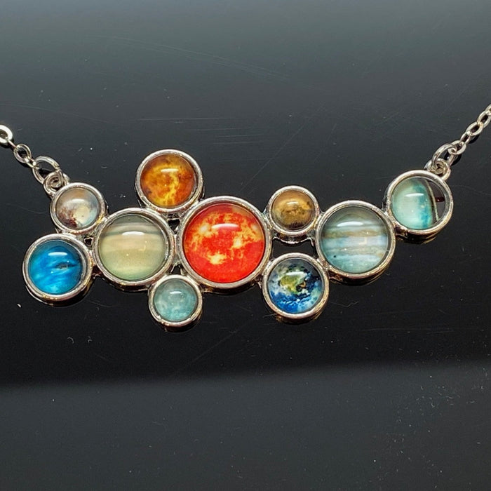 Solar System Bib Necklace