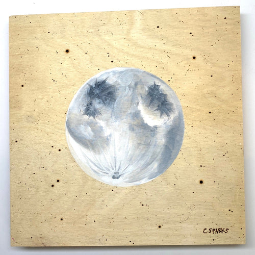Moon on Oil and Wood