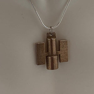 Hubble Space Telescope 3D Printed Metal Necklace