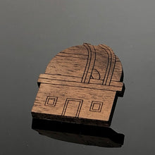 Load image into Gallery viewer, Observatory Wooden Laser Cut Brooch
