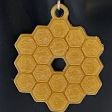 Load image into Gallery viewer, James Webb Space Telescope Mirror 3D Printed Necklace