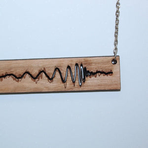 Gravitational Wave Wood Necklace