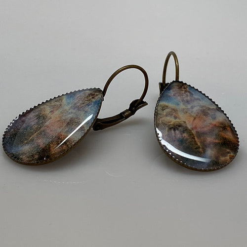 Carina Nebula Teardrop Earrings