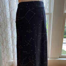 Load image into Gallery viewer, Constellations Glow-In-The-Dark Print Maxi Skirt