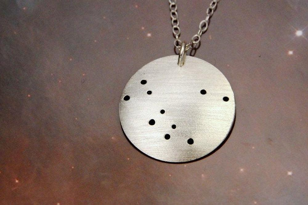 Northern Constellation Pinhole Sterling Silver Necklace