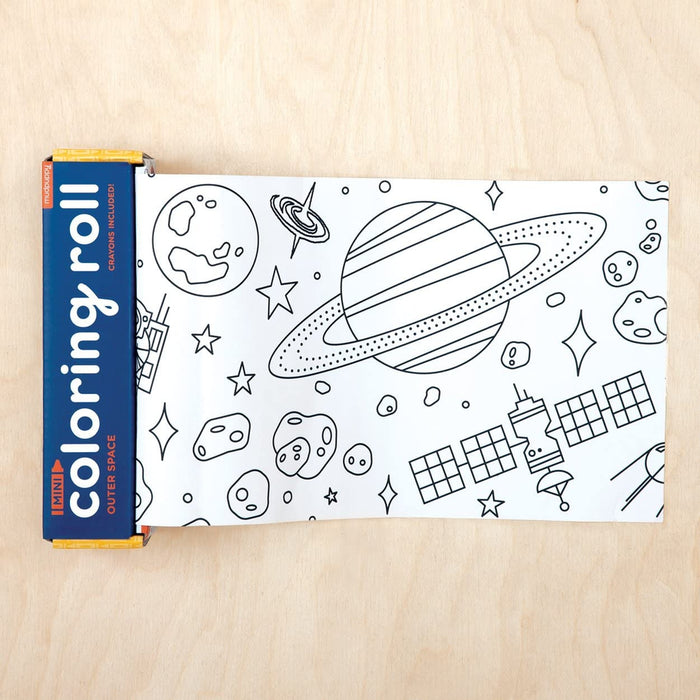 Outer Space Kids Coloring Roll