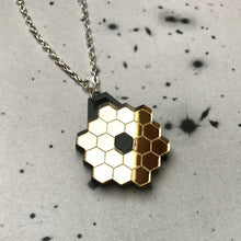 Load image into Gallery viewer, James Webb Space Telescope Mirror Acrylic Necklace