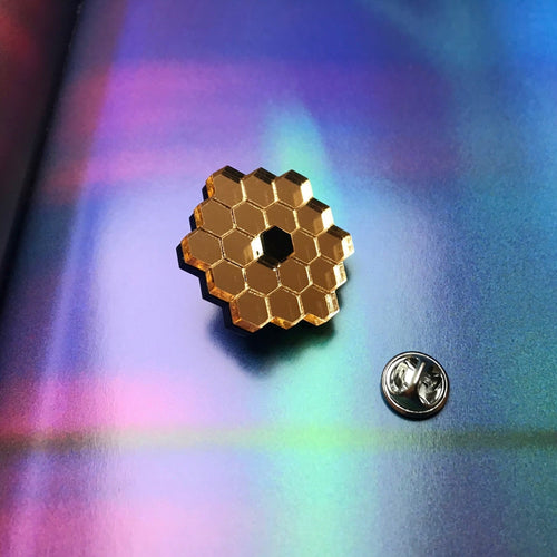 James Webb Space Telescope Mirror Acrylic Brooch/Lapel Pin