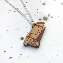 Load image into Gallery viewer, Kepler Space Telescope Wood Necklace