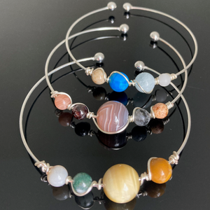 Outer Solar System Planets & Moons Bangle Bracelets