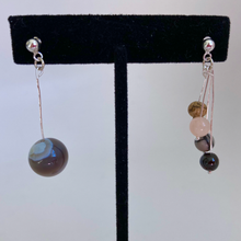 Load image into Gallery viewer, Jupiter & Galilean Moons Asymmetric Dangle Earrings