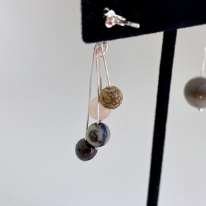 Jupiter & Galilean Moons Asymmetric Dangle Earrings