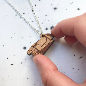 Kepler Space Telescope Wood Necklace