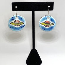 Load image into Gallery viewer, Ceramic Round Saturn Earrings