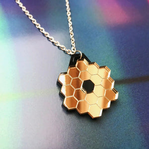 James Webb Space Telescope Mirror Acrylic Necklace