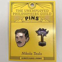 Load image into Gallery viewer, Nikola Tesla Pins