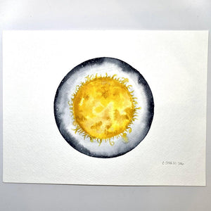 Sun watercolor