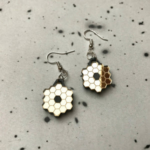 James Webb Space Telescope Mirror Acrylic Earrings