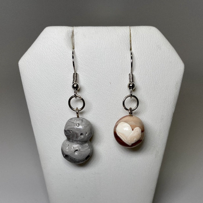 Pluto and MU69 Dangle Clay Earrings