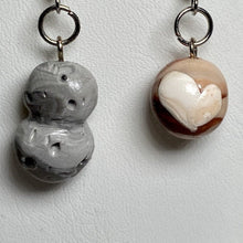 Load image into Gallery viewer, Pluto and MU69 Dangle Clay Earrings
