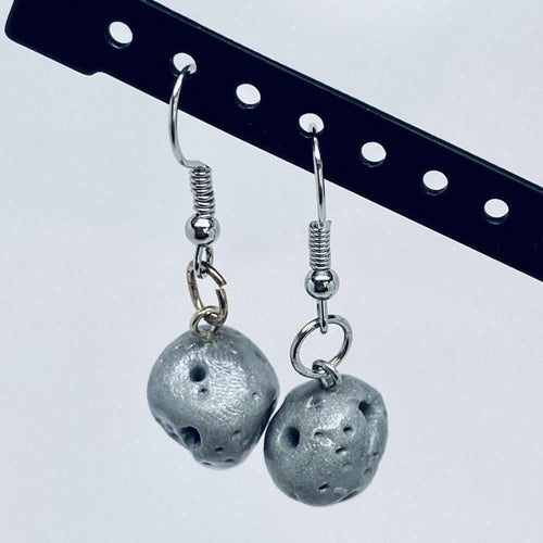 Asteroid Dangle Clay Earrings