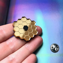 Load image into Gallery viewer, James Webb Space Telescope Mirror Acrylic Brooch/Lapel Pin