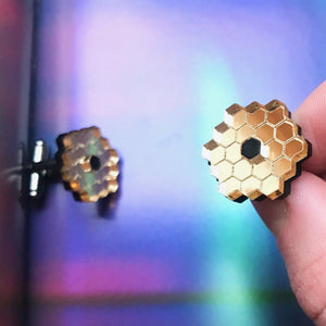 James Webb Space Telescope Mirror Acrylic Cufflinks