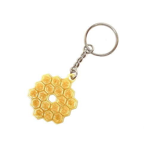 James Webb Space Telescope Mirror 3D Printed Keychain