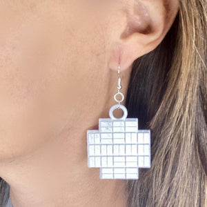 Kepler Field Of View 3D Printed Earrings