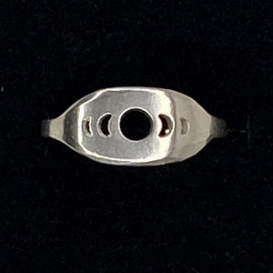 Moon Phase Signet Ring