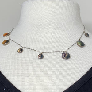 TRAPPIST-1 Exoplanets Sterling Silver Long Necklace