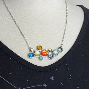 Solar System Cluster Necklace
