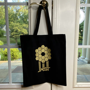 James Webb Space Telescope Mirror Black Tote Bag
