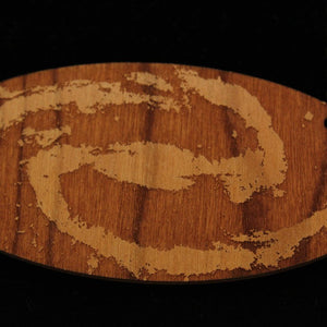 Spiral Galaxy Wood Necklace
