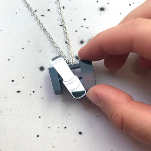 Hubble Space Telescope Acrylic Necklace