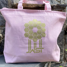 Load image into Gallery viewer, James Webb Space Telescope Mirror Zipper Large Pink Tote Bag