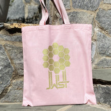 Load image into Gallery viewer, ames Webb Space Telescope Mirror Pink Tote Bag