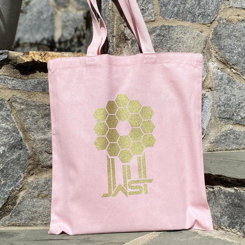 ames Webb Space Telescope Mirror Pink Tote Bag