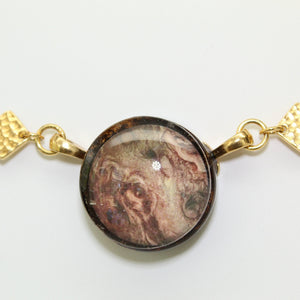 Jupiter Swirls Velvet Choker Necklace
