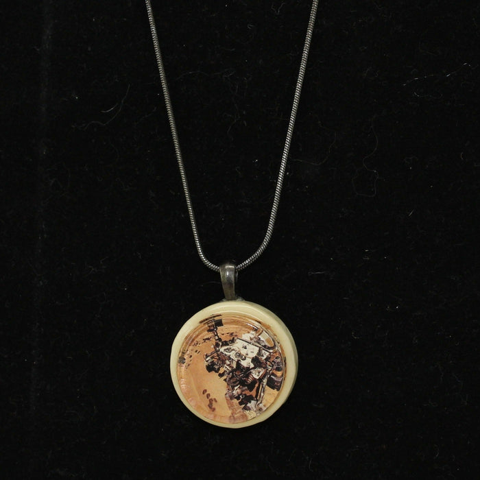 Mars Curiosity Rover Seflie Necklace