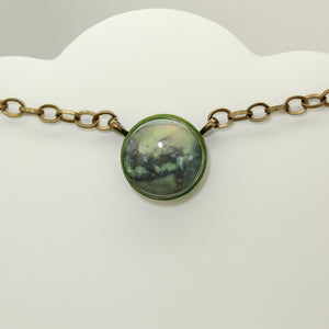 Titan Saturn's Moon Vintage Necklace
