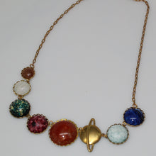 Load image into Gallery viewer, Solar System Planetary Vintage Statement Necklace
