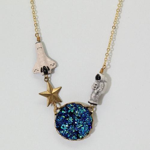 Space Shuttle and Astronaut Necklace