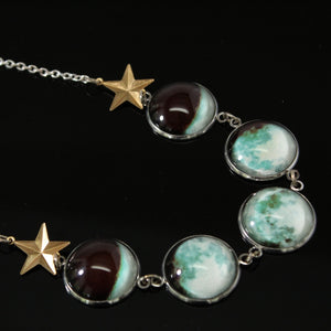 Moon Phases Glow-in-the-Dark Necklace