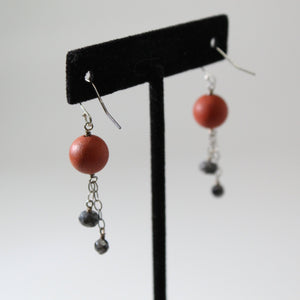 Mars + Moons Dangle Earrings